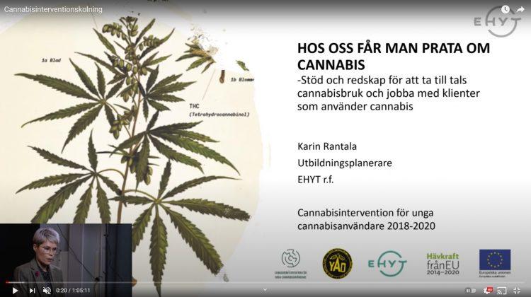 Hos oss får man prata oma cannabis dia